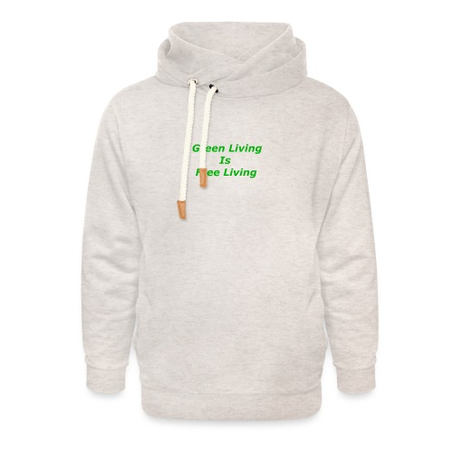 Green Living - Unisex hoodie med sjalskrave