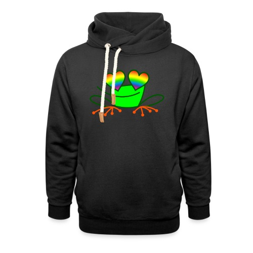 Pride Frog in Love - Unisex Shawl Collar Hoodie