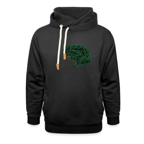 Piensa verde - Sudadera con capucha y cuello alto