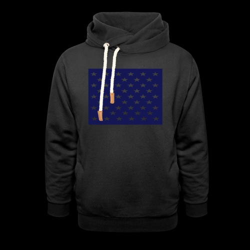 stars and stripes part1 - Shawl Collar Hoodie