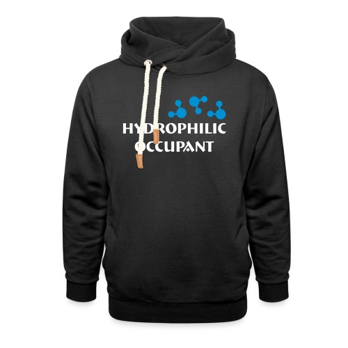 Hydrophilic Occupant (2 colour vector graphic) - Unisex Shawl Collar Hoodie