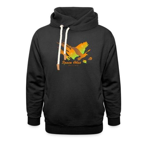 Space Atlas Longshirt Tee Autumn Leaves - Hoodie med sjalskrave
