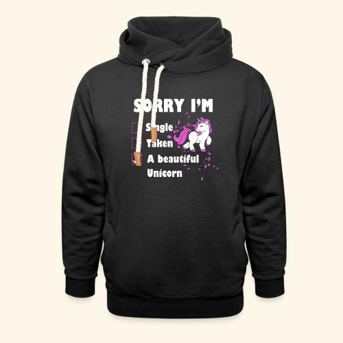 lustiges Beziehung Einhorn T-Shirt - Schalkragen Hoodie