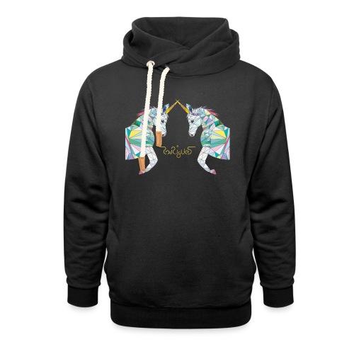 Unicorn Fight gold - Schalkragen Hoodie