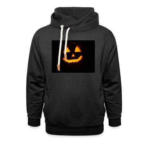 Halloween Kürbis Gesicht - Schalkragen Hoodie