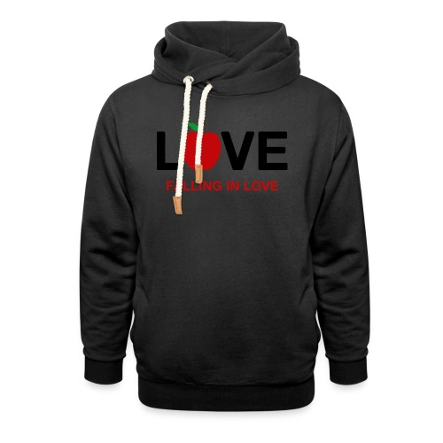 Falling in Love - Black - Shawl Collar Hoodie