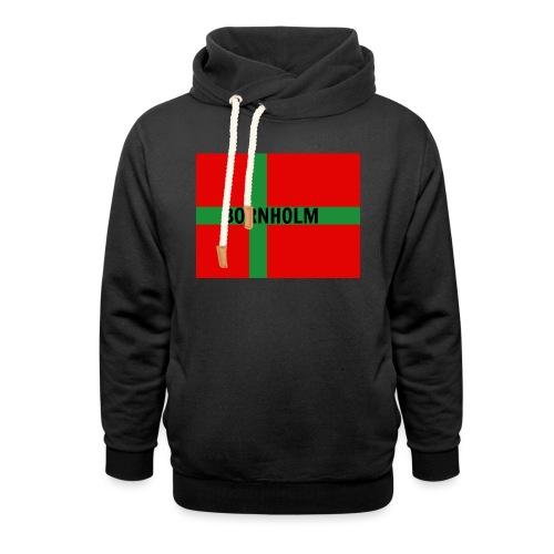 BORNHOLM - Unisex hoodie med sjalskrave