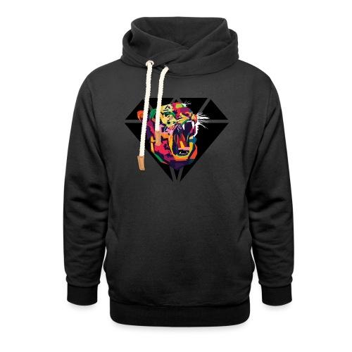 Tiger Hipster Design - Unisex Schalkragen Hoodie
