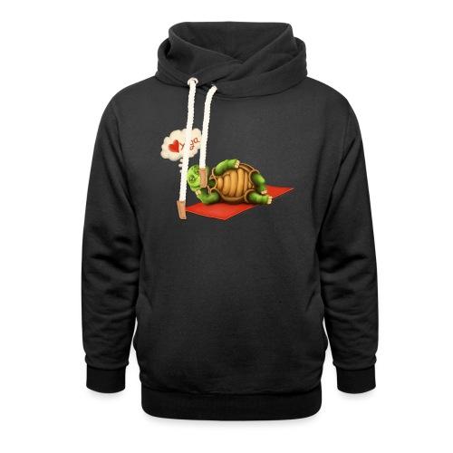 Love-Yoga Turtle - Schalkragen Hoodie