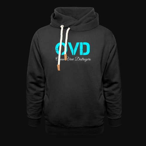 ovd blue text - Unisex Shawl Collar Hoodie