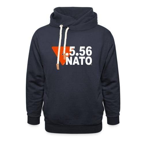.5.56 NATO BLANC - Sweat à capuche cache-cou