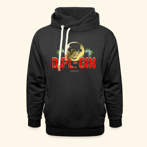 Gin T Shirt Design Dipl.-Gin - Schalkragen Hoodie