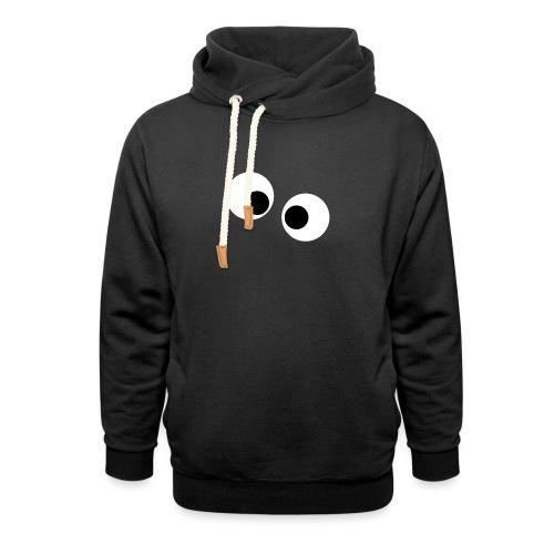 silly eyes - Unisex sjaalkraag hoodie