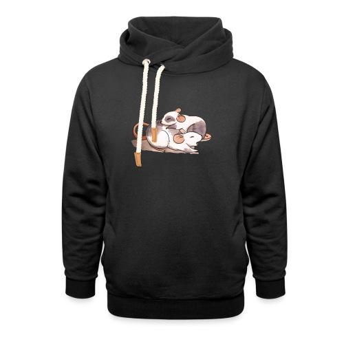 Mice cuddling - Shawl Collar Hoodie