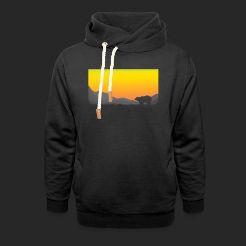 Sunrise Polar Bear - Unisex Shawl Collar Hoodie
