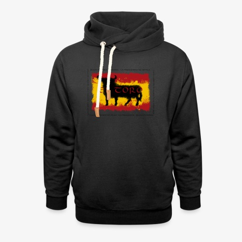Spain Flag with bull - Schalkragen Hoodie