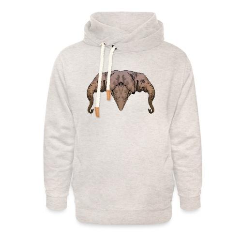 Elephants - Sweat à capuche cache-cou unisexe
