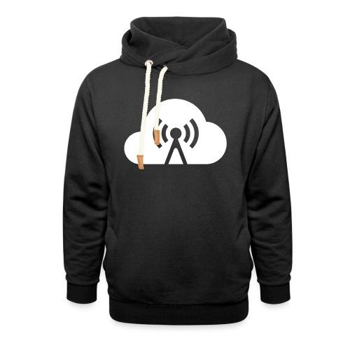 Cloud Cast Wolke weiß ohne Schrift - Schalkragen Hoodie
