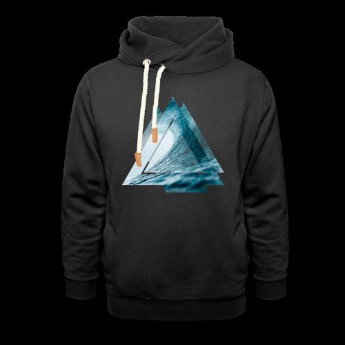 Dreieck Surfer Welle - Schalkragen Hoodie