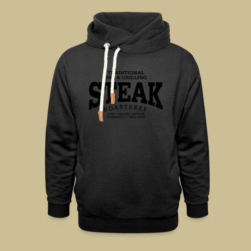 Steak (black) - Schalkragen Hoodie