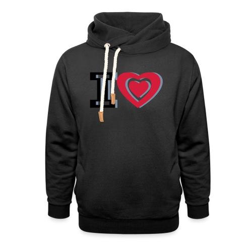 I LOVE I HEART - Shawl Collar Hoodie
