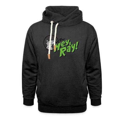 Hey Ray Logo green - Schalkragen Hoodie