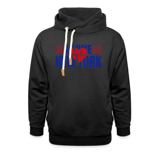 love new york - Sweat à capuche cache-cou