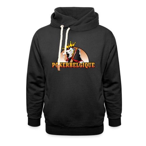 Logo Poker Belgique - Sweat à capuche cache-cou