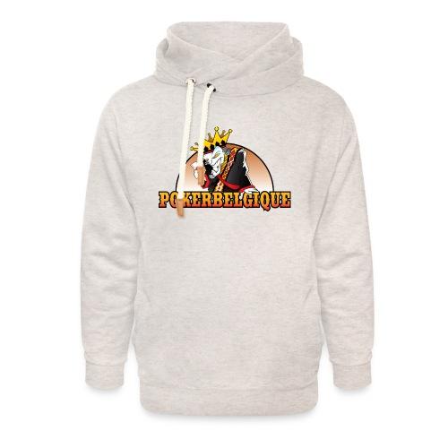 Logo Poker Belgique - Sweat à capuche cache-cou unisexe