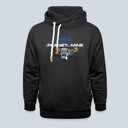 logo planetofmine dark HD - Sweat à capuche cache-cou unisexe