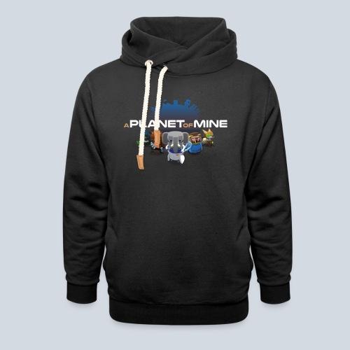 logo planetofmine dark HD - Sweat à capuche cache-cou