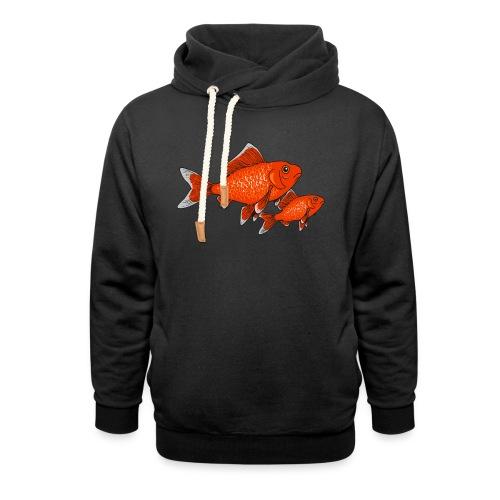 Poissons rouges - Sweat à capuche cache-cou unisexe