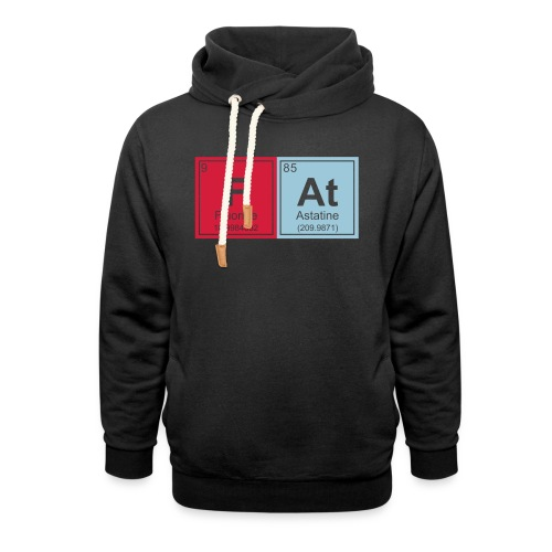 Geeky Fat Periodic Elements - Shawl Collar Hoodie