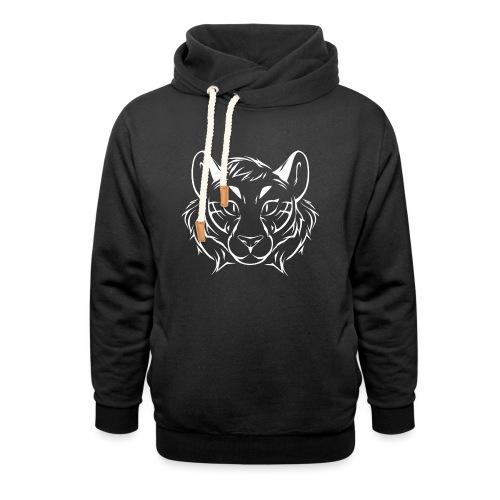 Tigris Picture Logo White - Shawl Collar Hoodie