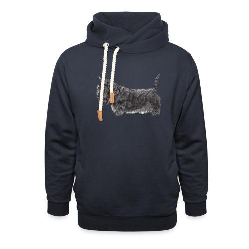 skotsk terrier ub - Hoodie med sjalskrave