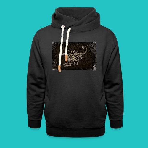 skorpion_grafika-jpg - Bluza z szalowym kołnierzem