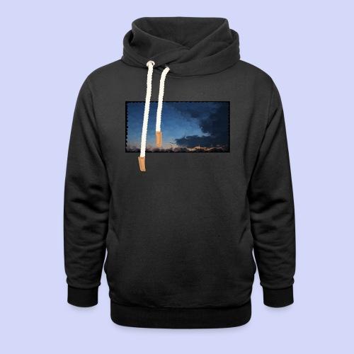 Sunset lovers - Morning tea cup - Unisex hoodie med sjalskrave
