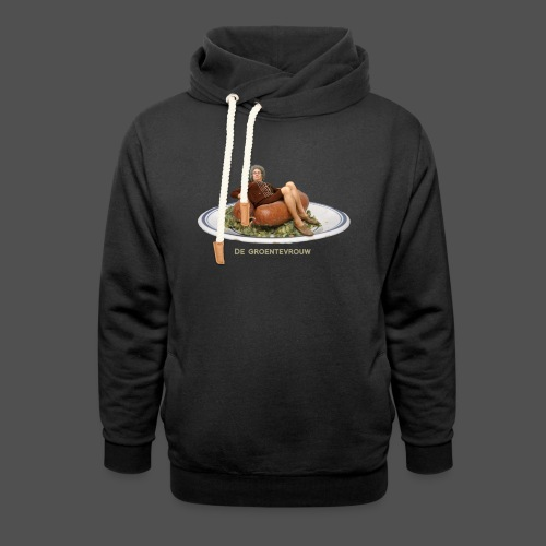Rookworst (v) - Unisex sjaalkraag hoodie