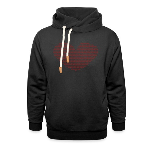 Isle of red Ascii Heart - Shawl Collar Hoodie