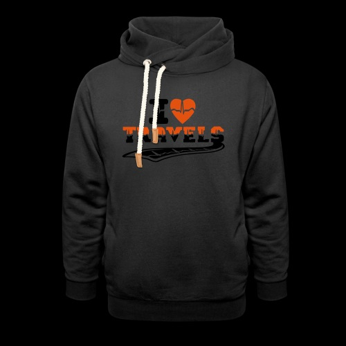 i love travels surprises 2 col - Shawl Collar Hoodie
