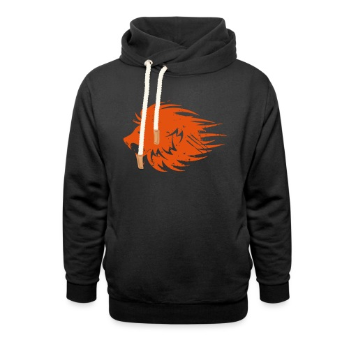 MWB Print Lion Orange - Shawl Collar Hoodie