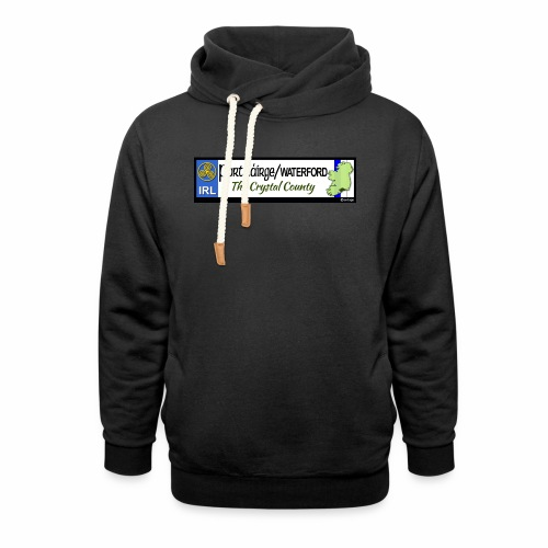 WATERFORD, IRELAND: licence plate tag style decal - Shawl Collar Hoodie