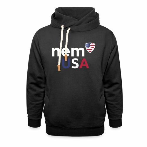 NEM USA white - Felpa con colletto alto unisex