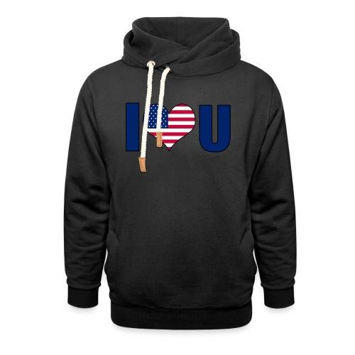 I love u USA - Shawl Collar Hoodie