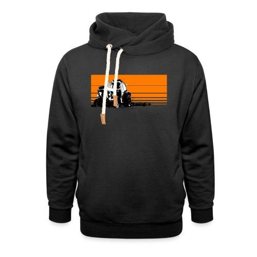 Sunset tractor orange - Felpa con colletto alto