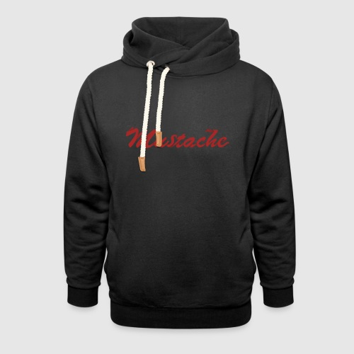 Red Mustache Lettering - Shawl Collar Hoodie