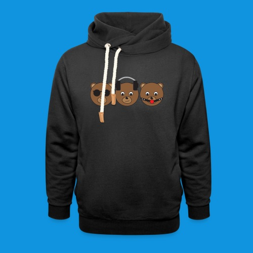 3 Wise Bears - Shawl Collar Hoodie