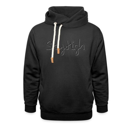 SkyHigh - Women's Premium T-Shirt - Black Lettering - Shawl Collar Hoodie