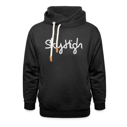 SkyHigh - Women's Hoodie - Gray Lettering - Shawl Collar Hoodie