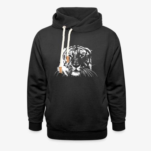 WHITE TIGER - Sudadera con capucha y cuello alto unisex